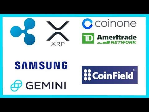 Ripple Coinone - TD Ameritrade XRP - Samsung Crypto Wallet App - Gemini Crypto App - CFTC Ethereum
