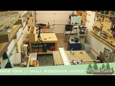Shop Tour // Small WoodShop Layout