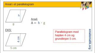 Areal i et parallelogram