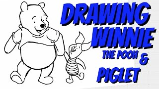 How to Draw Winnie the Pooh an piglet