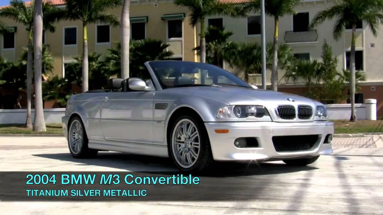 BMW M Convertible Titanium Silver Metallic A YouTube - Bmw 2004 convertible
