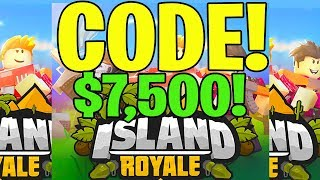 ISLAND ROYALE NEW CODE (ROBLOX) $7,500 💰