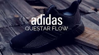 abeja Empuje Currículum  Adidas Questar Flow Review | Blackout Edition - YouTube