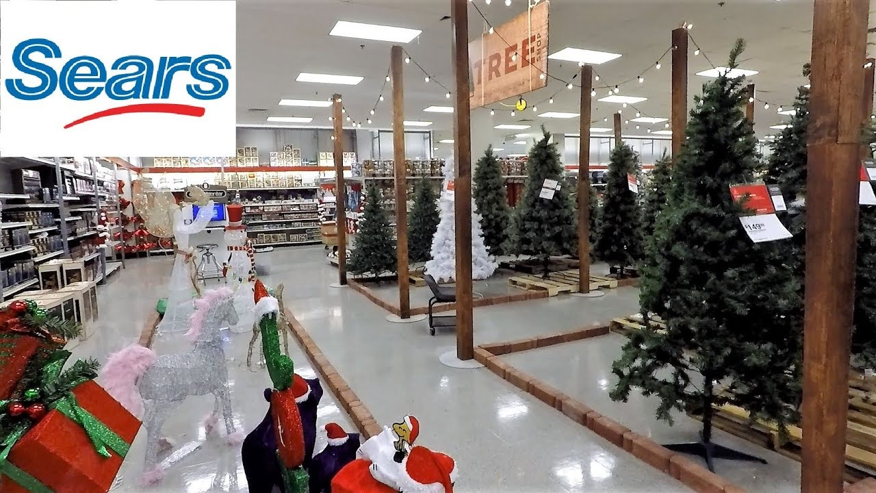 christmas 2018 section at sears so far christmas trees ornaments decorations home decor shopping