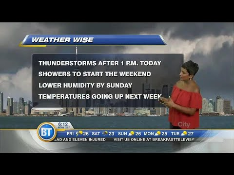 Thunderstorms to arrive Friday afternoon in the GTA