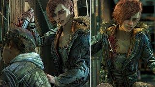 Minerva Kills Clementine vs Violet Shoots Minerva - The Walking Dead The Final Season Episode 3