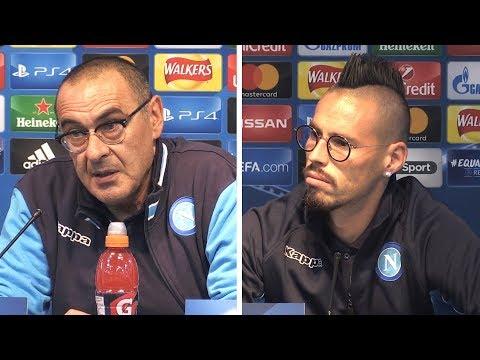 Maurizio Sarri & Marek Hamsik Full Pre-Match Press Conference - Manchester City v Napoli