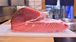 寿司職人によるインドマグロの仕込みから握りまで〜How To Make Tuna Sushi〜