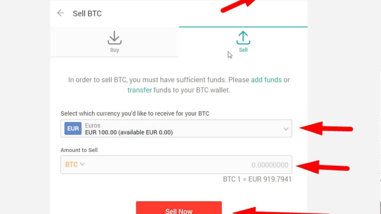 How To Sell Bitcoins Xapo