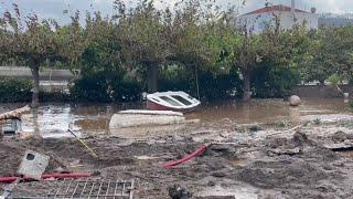 Eubea golpeada por inundaciones tras los incendios de este verano