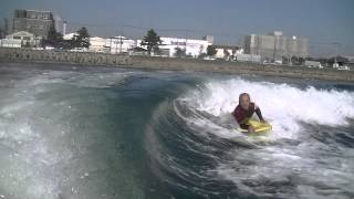 roll roll cutback roll spin bodyboarding tokyo bay boat surf tokyo japan