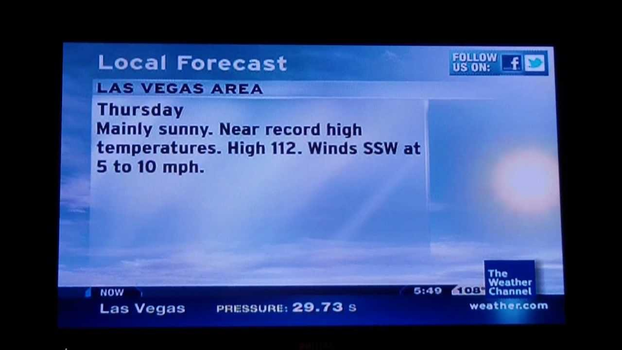the weather channel in las vegas  nv