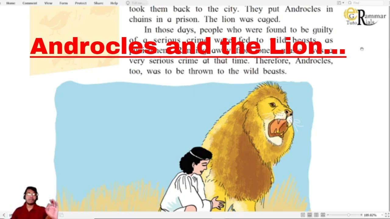 8th Androcles and the Lion - Explanation (Marathi Medium)