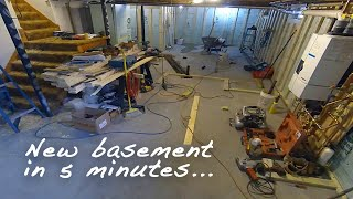 HOW TO FINISH A BASEMENT in 5 Mins - An Amazing Time Lapse