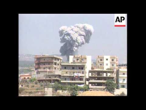 Lebanon - Israeli Planes Blast Guerilla Bases