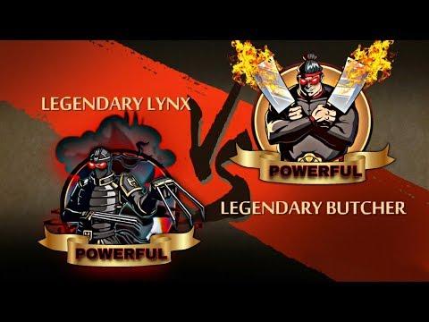 Shadow Fight 2 Legendary Lynx Vs Legendary Butcher