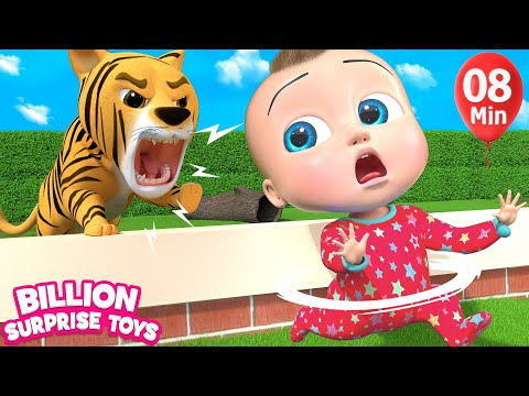 Zoo Animals Cartoon | + More Kids Songs | Billion Surprise Toys