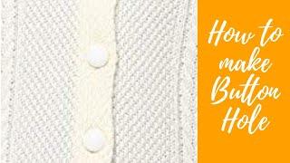 Knit buttonhole in sweater pattern #2