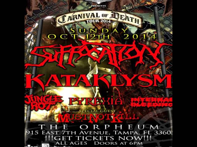 Suffocation Live at the Orpheum 10/12/14