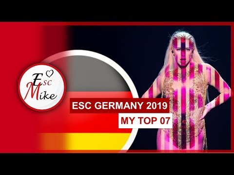 Eurovision Germany 2019 [Unser Lied Für Israel] - My Top 7 [With RATING]