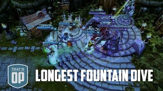 Most EPIC Fountain Dive Ever - 130000 Damage Taken - League of Legends World Records
