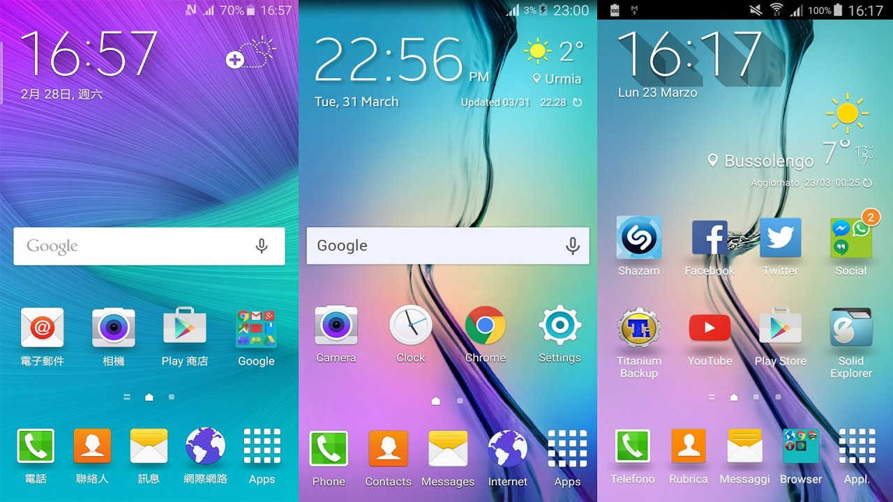 install samsung galaxy s6 weather widgets on any android smartphone youtube