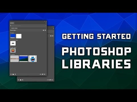 How to Use Libraries in Photoshop CC - Beginner Tutorial thumbnail