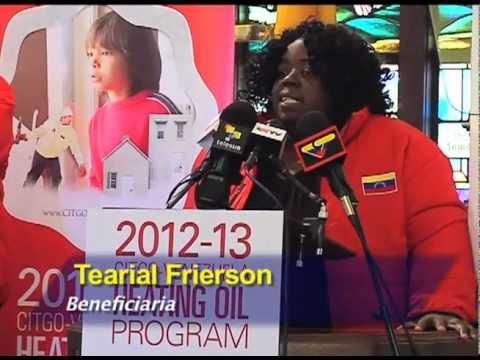 Lanzamiento  de programa Citgo-Venezuela de combustible para calefacción en Estados Unidos