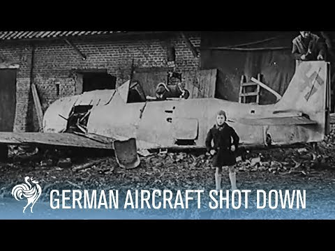 Nazi Pilot Jumps from Plane During Aerial Combat | War Archives