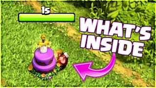 WHAT U GET AFTER REMOVING 9TH ANNIVERSARY CAKE IN CLASH OF CLANS
