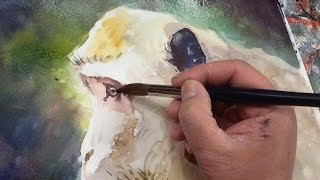 Watercolor Painting of a Monkey