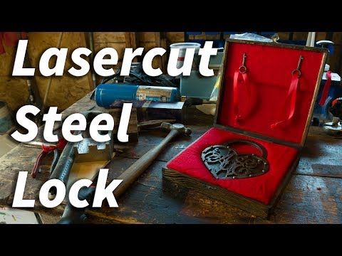 Laser Cut Antique Steel Lock - DIY