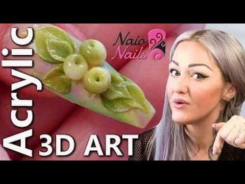 3D Acrylic Nail Art Apples - 3D Fruit Acrylic Nails - Series of ...