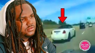 Tee Grizzley Security ON GO MODE! Strapped up Following him on Highway