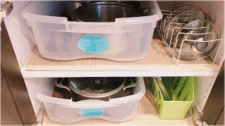 Kitchen Organization Tips and Hacks for Cabinets || Dollar Tree DIY Multipurpose Organizer