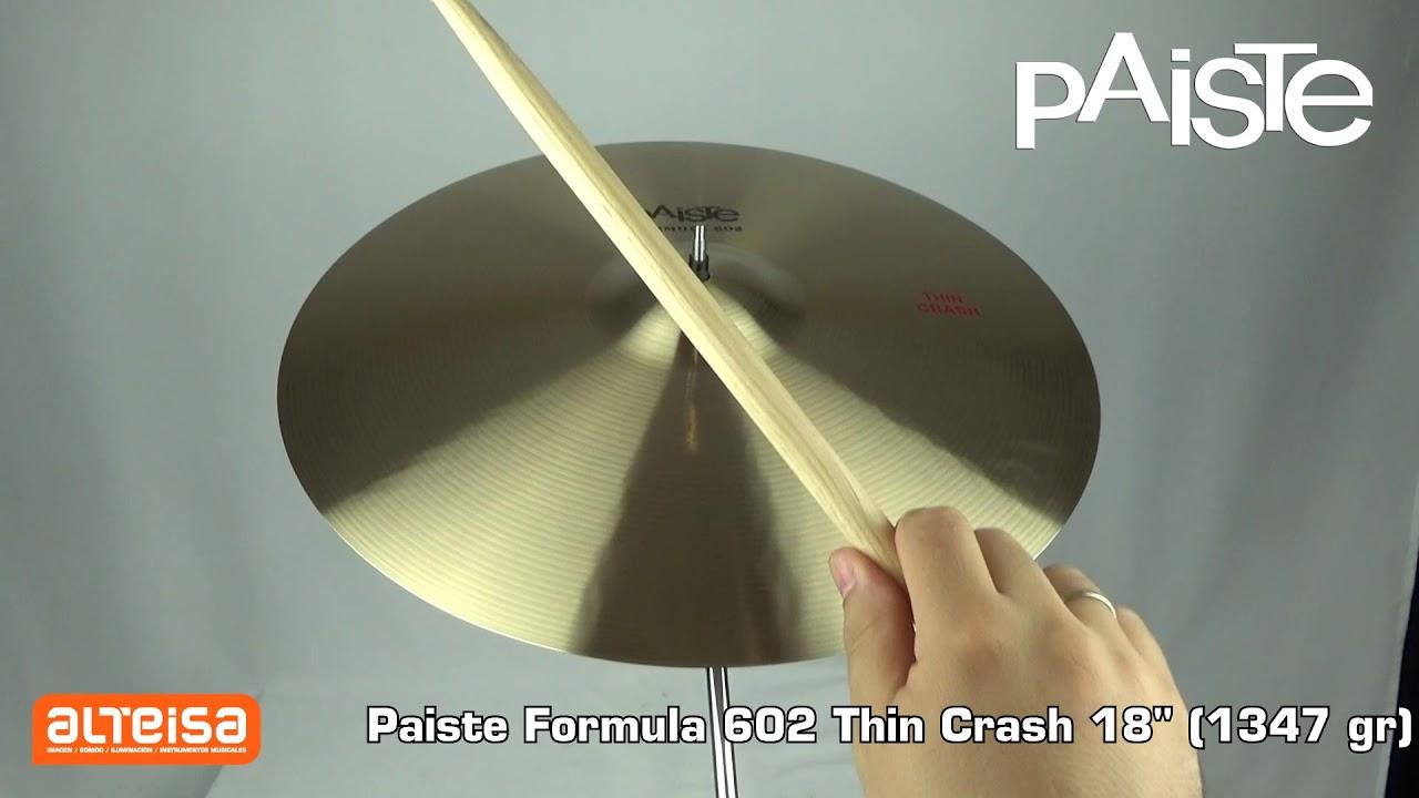 Paiste Formula 602 Thin Crash 18 (1347 gr) Sound Demo — Alteisa Sonido