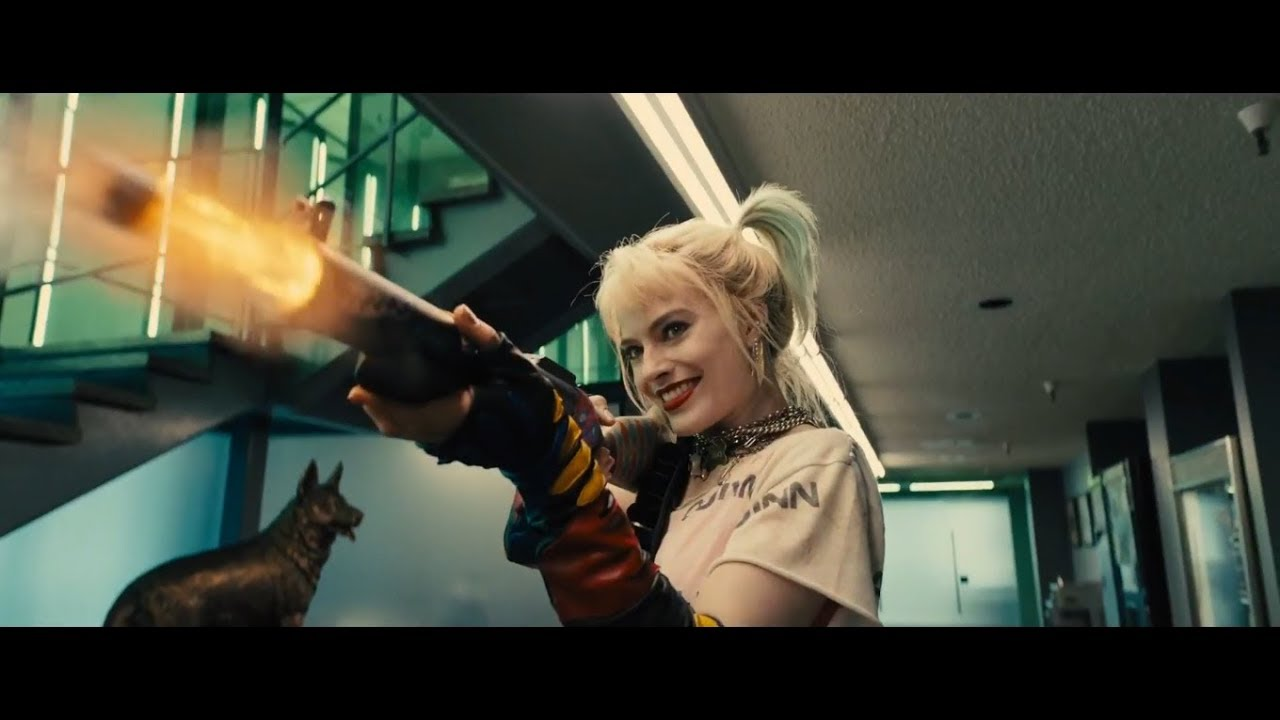 Birds Of Prey Harley Quinn Vs Cops Prisoners Police Station Fight Scene 1080p Youtube