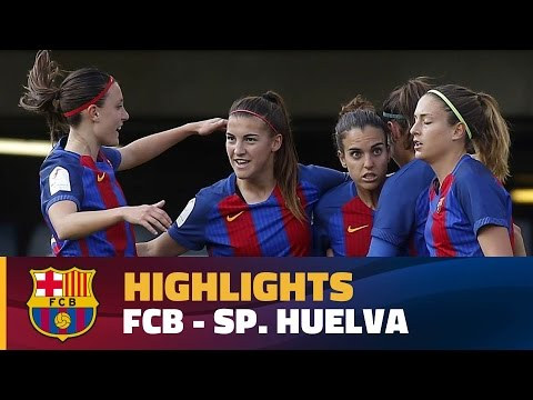 [HIGHLIGHTS] FUTBOL FEM (Lliga): FC Barcelona – Sp. Club de Huelva (5-1)