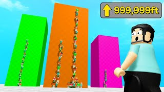JUMP OVER The TALLEST WALLS in ROBLOX!
