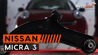 How to replace Suspension arm on NISSAN MICRA III (K12) - video tutorial