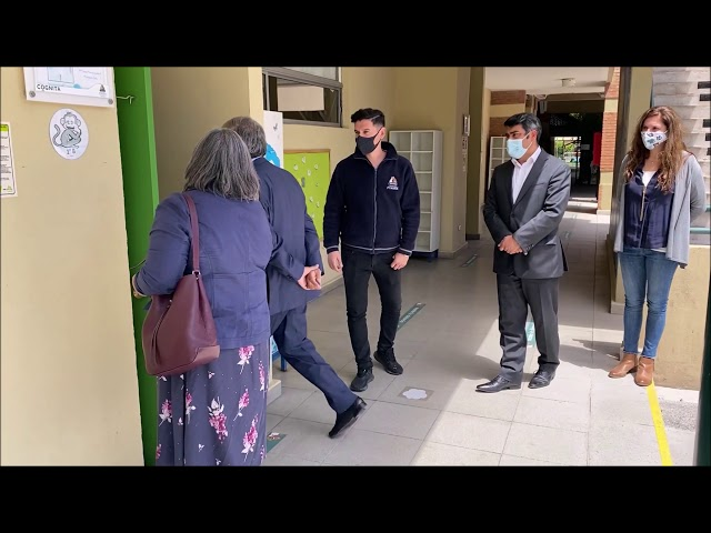Visita de la jefa provincial de la zona norte y del Seremi de educación al Colegio Pumahue Chicureo