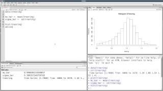 Summary statistics in R