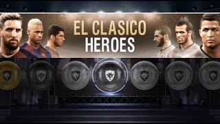 Pack Opening x10 EL CLÁSICO HEROES   PES 2017 Android