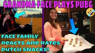 Chrises Face Family Trys  Food From Holland from Wesly Van Der Leest! GRANDMA PLAYS PUBG !!!!