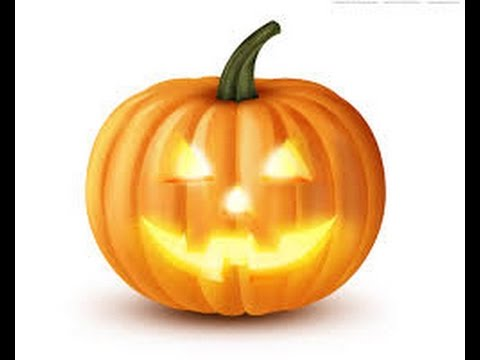 How to draw Halloween pumpkin face - YouTube
