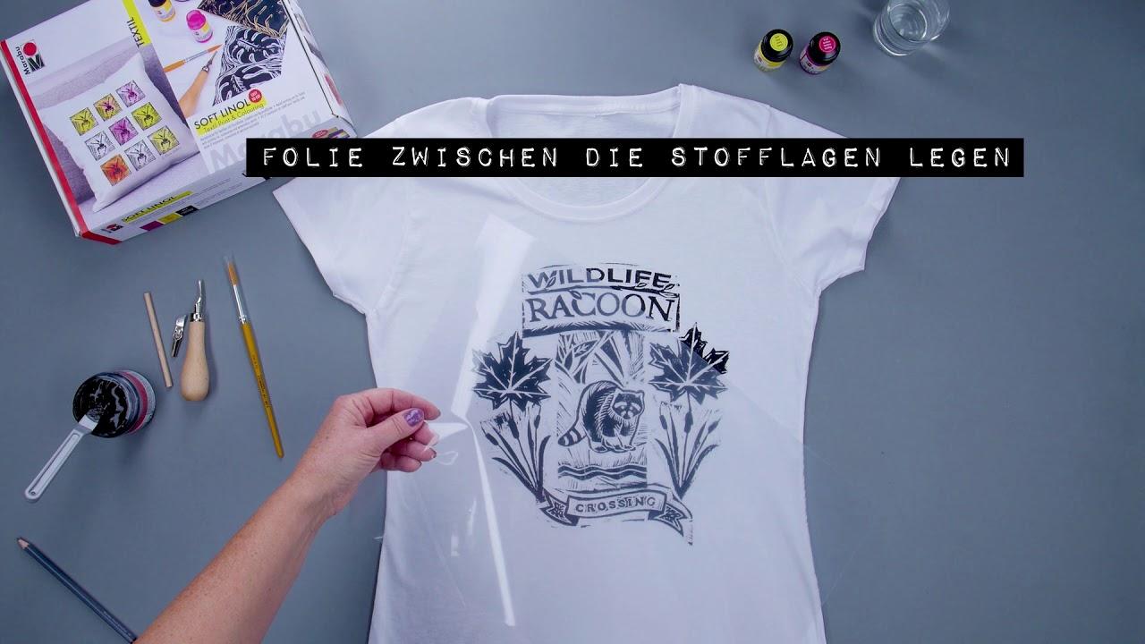 Diy Ideen T Shirts Selber Gestalten Mit Dem Soft Linol Colouring Set