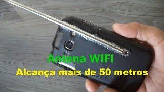 Aumentando o sinal  WIFI do smartphone com Antena de Rádio