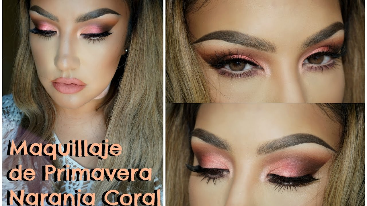 maquillaje naranja coral de primavera spring makuep tutorial orange auroramakeup youtube. Black Bedroom Furniture Sets. Home Design Ideas