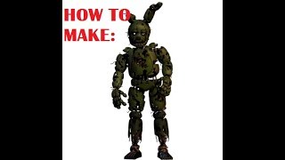 HOW TO MAKE SPRINGTRAP IN ROBLOX FNAF! [Roblox]