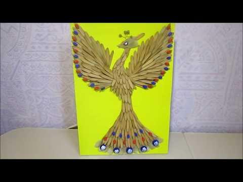 Как сделать птицу из природного материала своими руками